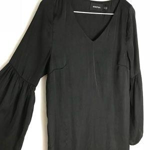 MinkPink black bell sleeve shift dress s